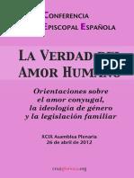 Conferencia Episcopal Espanola La Verdad Del Amor Humano