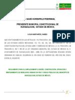 Reglamento de Emplazamiento Diseño y Construcción 2005