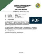 Histology Syllabus