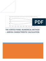 Vortex Panel Method For Calculating Airfoil Characeristics