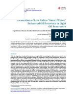 Evaluation of Low Saline Smart Water EOR in Light Oil Reservoir