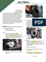 air filter draft