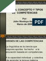 origenconceptoytiposdecompetencias-120611083015-phpapp01