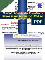 Unidad I - Medicina Interna - Fernanda Pineda Gea - UNICA - Manejo del expediente clínico según normativa 004.pptx