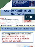 Uso de Xantinas en Neonatos- Teofilina - Aminofilina - Marco Bolaños.pptx