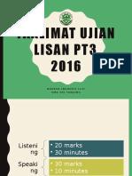 Taklimat Ujian Lisan PT3