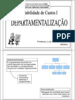 Custos - Departamentalização