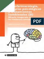 Psicofarmacologia Terapias Psicologicas y Tratamiento Combinado II Medilibros.com