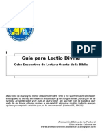 Guia Lectio Divina 8 Encuentros