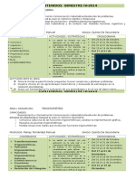 Contenidos Secundaria Primaria Algebra Trigonometría Fisica  Bimestre IV