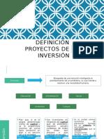 Definición Proyectos de Inversion