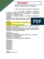 Temario de Matematica