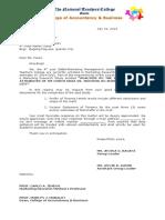 Proforma Request Letter