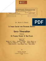 Anales Científicos Paraguayos serie II, num. 6 publicados por el Dr. Moises Bertoni La Lengua Guaraní como documento histórico, Puerto Bertoni -Paraguay año 1920