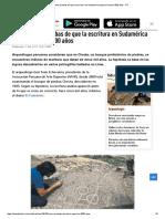 Perú_ Hallan Pruebas de Que La Escritura en Sudamérica Apareció Hace 5