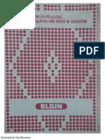 Manual Da Máquina de Trico Elgim b 840 Mais Claro
