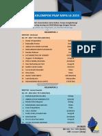 Daftar Kelompok Psaf Mipa Ui 2015