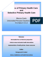 Origins of Primary Health Care and Selective Primary Health Care