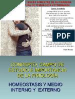 FISIOLOGÍA Introducción Homeostasis Agosto2015