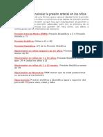 Fórmulas para calcular la presión arterial en los niños.docx