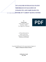 """COMPARATIVE ANALYSIS OF FINANCIAL STATUS AND PERFORMANCE EVALUATION OF HIMALAYAN BANK LTD. AND NABIL BANK LTD. IN THE FRAMEWORK OF """"CAMELS"""" RATING SYSTEM"""
