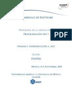 Unidad 1 Introduccion a NET