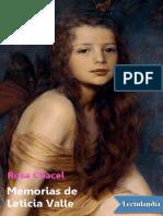 Memorias de Leticia Valle - Rosa Chacel