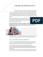 7 Tips Para Ajustar Las Finanzas de La Pareja