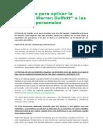 """4 Razones Para Aplicar La """"Técnica Warren Buffett"""" a Las Finanzas Personales"""