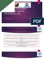 Financial Statement Analysis of Varun Beverages Ltd