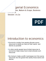 Managerial Economics Nature & Scope Session 1