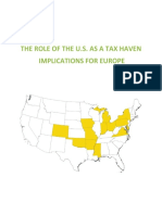 The US as a Tax Haven Implications for Europe 11 May FINAL