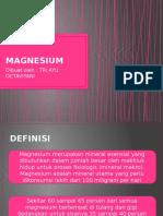 Magnesium - Pr Dr. Linda