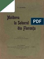 (1912) Moldova La Soborul Din Florenta, Ed. a 2-A [C. Auner]