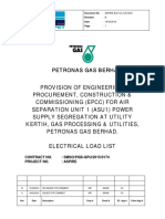 Cover Electrical Load List