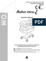 Infant Incubator ATOM Rabee Incu-i Operation Manual
