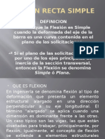 Flexion Recta Simple