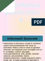 Activitatea publicistica a lui Mihai Eminescu