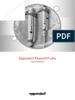 Micropippete EPPENDORF - Factory Adjustment