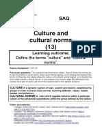 Soc 13 Culture and Cultural Norms IB14