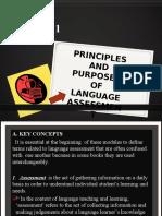 m0dule 1 Principles and Purposes of Language Assesstmnt