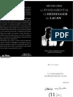 Lo Fundamental de Heidegger en Lacan