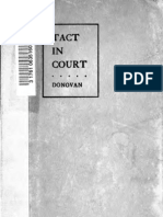 Tact in Court by Judge J.W. Donovan (1915)