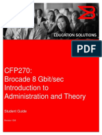 Student Guide - CFP 270 - Brocade 8 GB/s Introduction to Administration and Theory