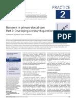 Research Questions Development