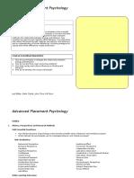 ap psychology units