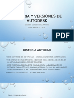 Historia y Versiones de Autodesk
