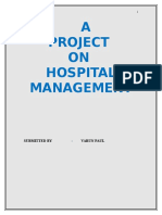 C Language project on Hospital Management System