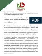 Comitato NO Ginosa Piattaforma Politica e Attività Campagna Informativa n.1