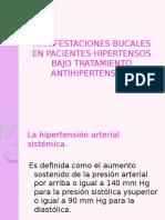 Manifestaciones Bucales en Pacientes Hipertensos Bajo Tratamiento Antihipertensivo
